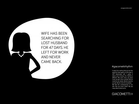 Giacometti Print Ad -  #giacomettirhythm, 2