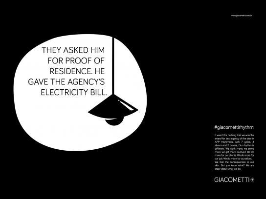 Giacometti Print Ad -  #giacomettirhythm, 1