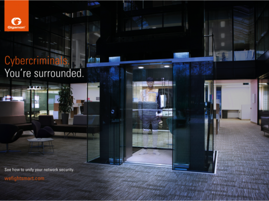 Gigamon Digital Ad - Bodypainting - elevator