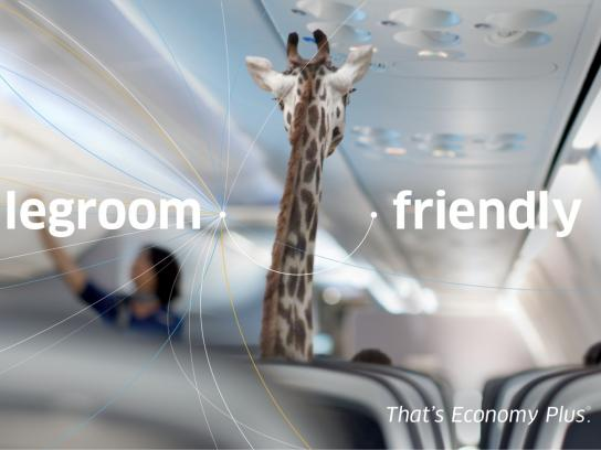 United Airlines Outdoor Ad -  Giraffe