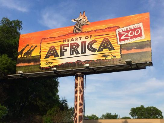 Columbus Zoo Outdoor Ad -  Heart of Africa