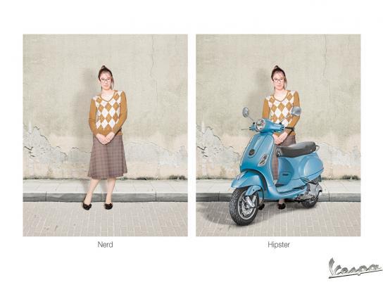 Vespa Print Ad -  Girl