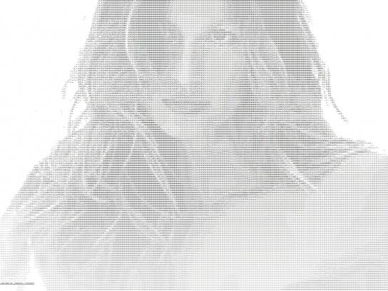 Gisele Bündchen Intimates Digital Ad -  ASCII ART