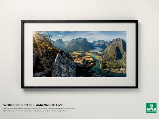 Giver Viaggi Print Ad - Travel Masterpiece, Fjord