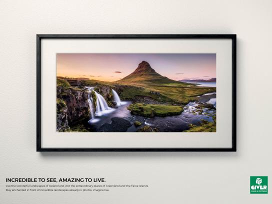 Giver Viaggi Print Ad - Travel Masterpiece, Iceland