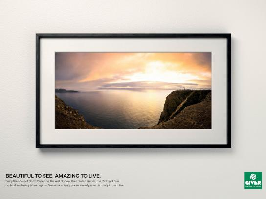 Giver Viaggi Print Ad - Travel Masterpiece, North Cape