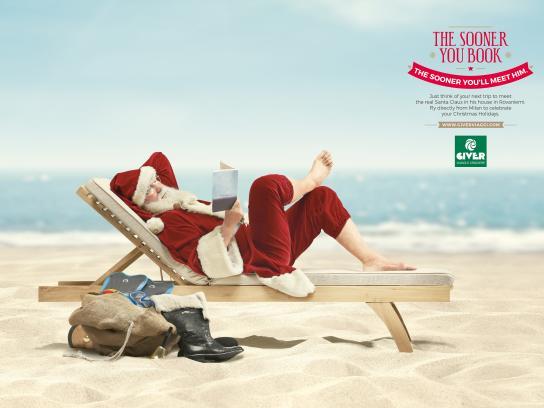 Giver Viaggi Print Ad - Sun-ta Claus