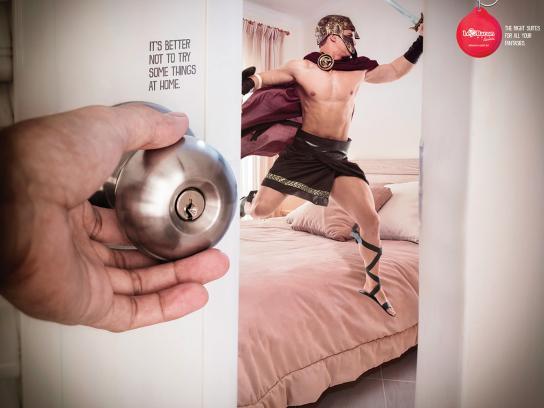 Motel Le Baron Print Ad - Gladiator
