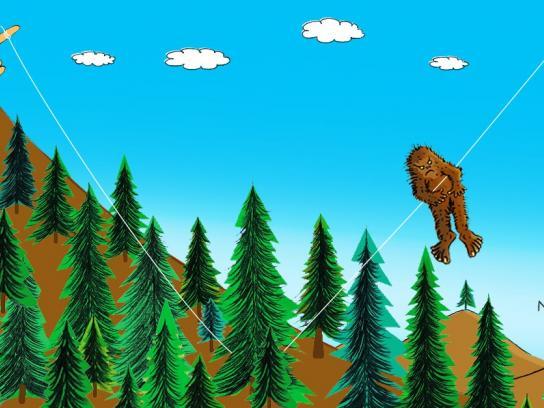 Oral-B Print Ad -  Bigfoot