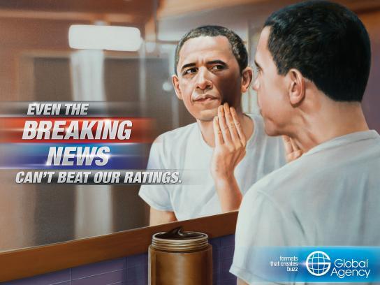 Global Agency Print Ad -  Breaking News, Obama
