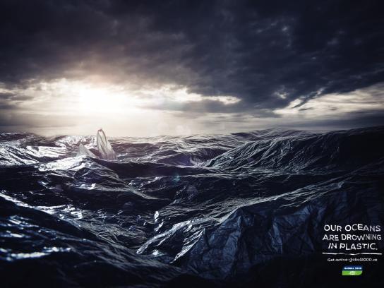 Global 2000 Print Ad - Plastic Ocean