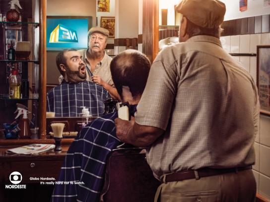 Globo Nordeste Print Ad -  Barber