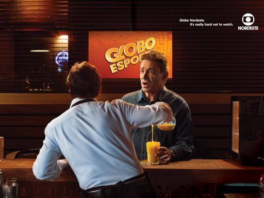 Globo Nordeste Print Ad -  Bartender