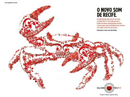 Portal MaisAB Print Ad -  The new sound, Crab