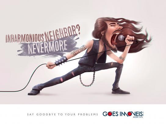 Goes Real Estate Agency Print Ad - Neighbors - inharmonious