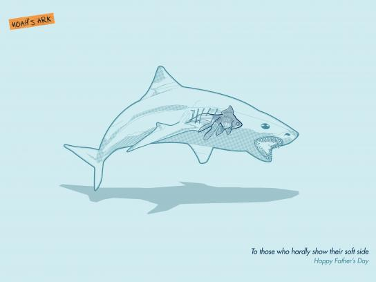 Noah's Ark Creative Print Ad - Father's Day