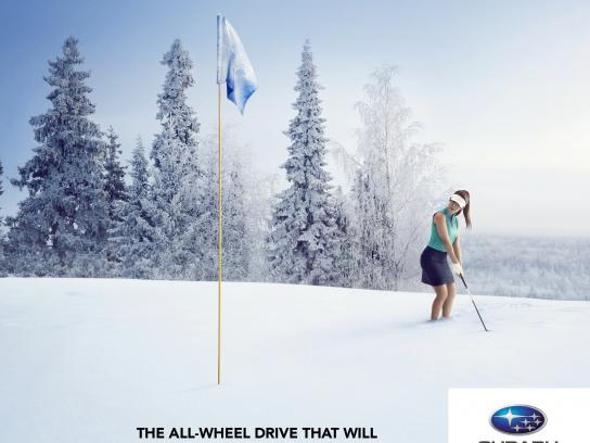 Quebec Subaru Dealers' Association Print Ad -  Forget winter, 2