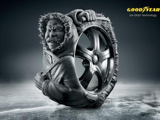 Goodyear Print Ad -  Ice-Grip