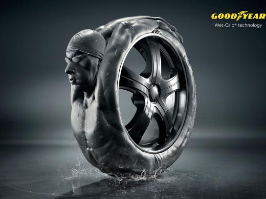 Goodyear Print Ad -  Wet-Grip
