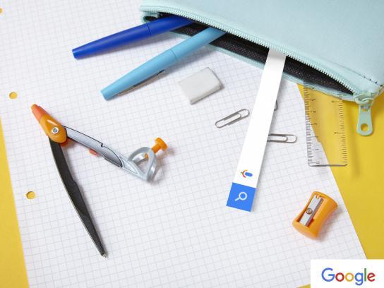 Google Print Ad - Paper pen
