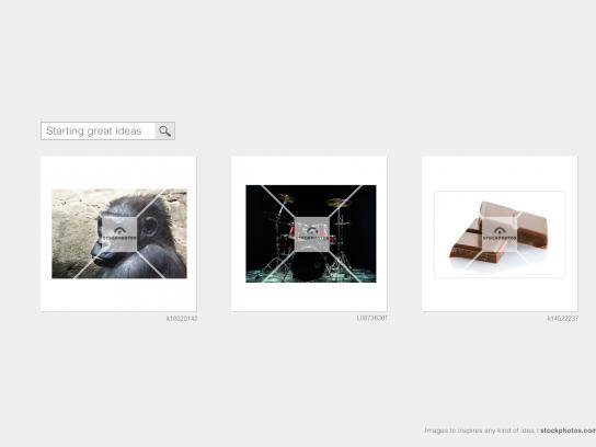 Stockphotos Print Ad -  Gorilla drummer