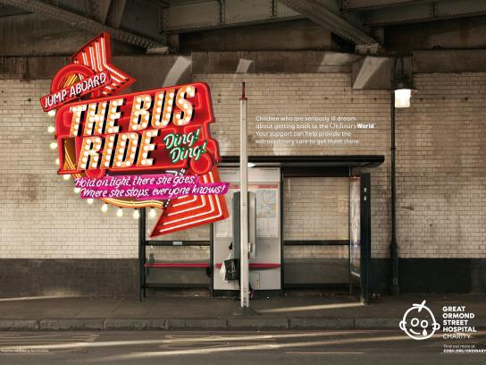 Great Ormond Street Hospital Children's Charity Print Ad - Ordinary World - Bus ride