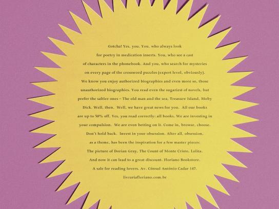 Floriano Bookstore Print Ad -  Gotcha!