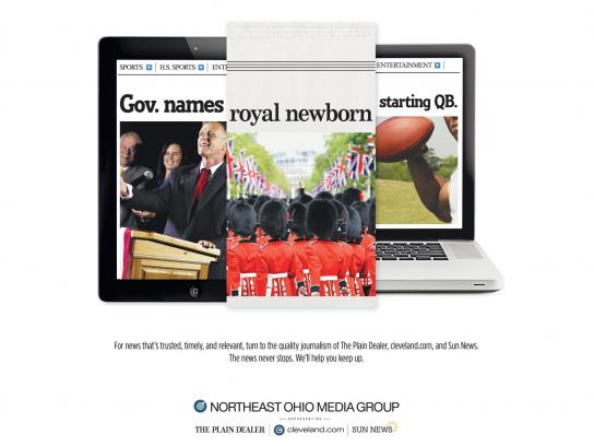 Northeast Ohio Media Group Print Ad -  Gov-Royal-QB