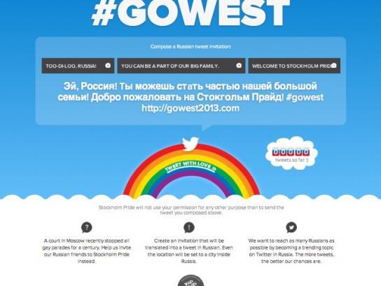 Stockholm Pride Digital Ad -  #gowest