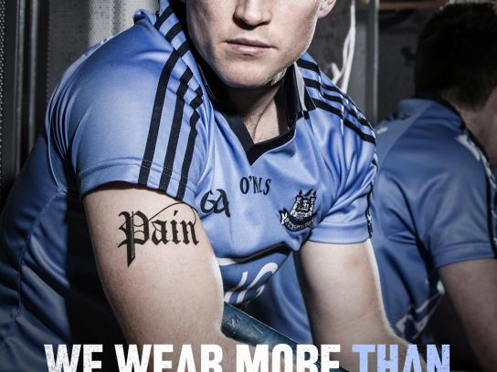 Gaelic Players Association Print Ad -  We wear more, 2