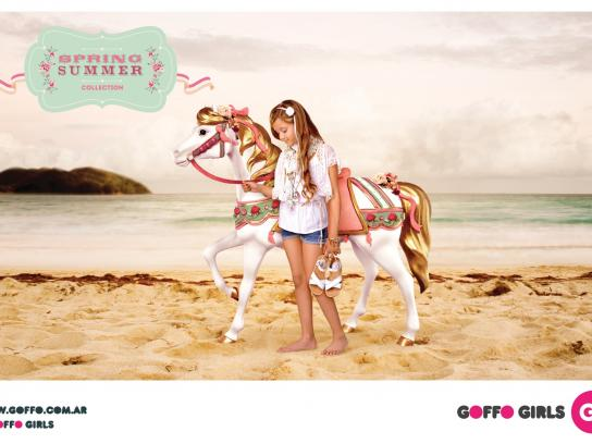 Goffo Girls Print Ad -  Beach