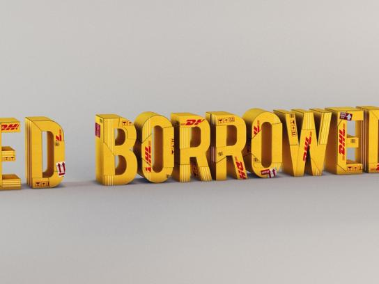 DHL Print Ad -  Things get there, Stained borrowed dress