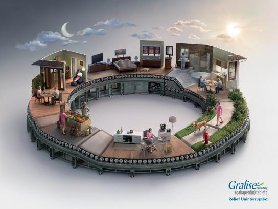 Gralise Print Ad -  Uninterrupted relief