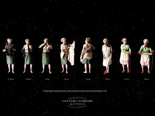 Custom Comfort Mattress Print Ad - Grandma