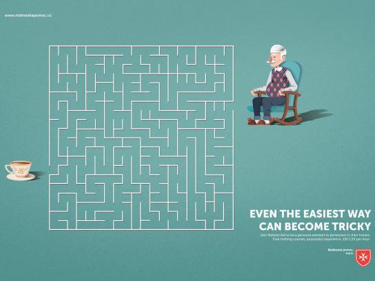 Maltese Aid Print Ad - Grandpa