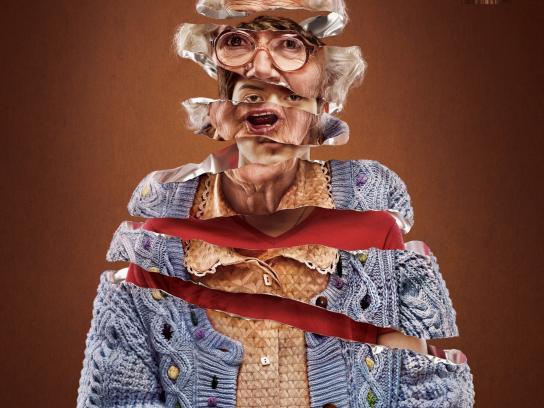 Snickers Print Ad -  Granny
