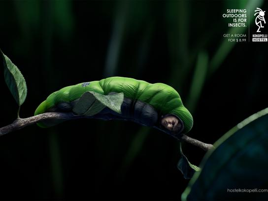 Kokopelli Hostel Print Ad -  Green