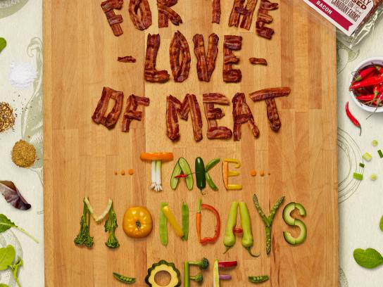 Greenfield Natural Meat Co. Print Ad - Meatless Monday