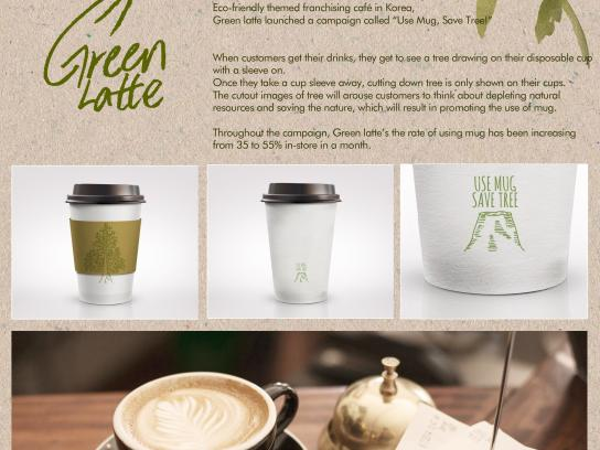 Green Latte Direct Ad -  Save the tree