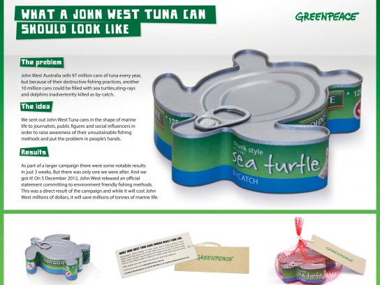 Greenpeace Direct Ad -  Turtle Cans