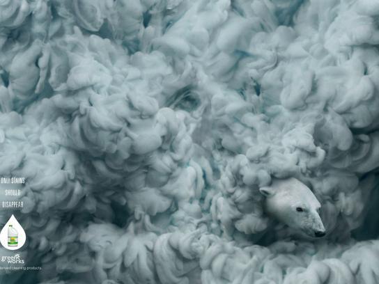 Clorox Print Ad -  Polar bear
