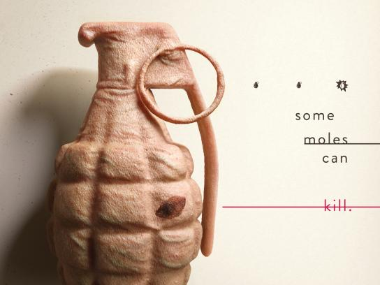Mollie's Fund Print Ad - Skin Bombs - Grenade