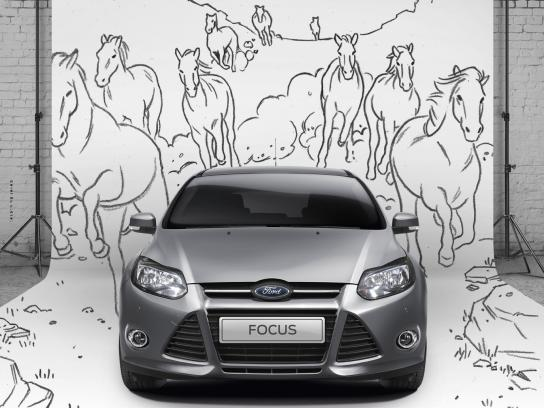 Ford Print Ad -  Wild horses