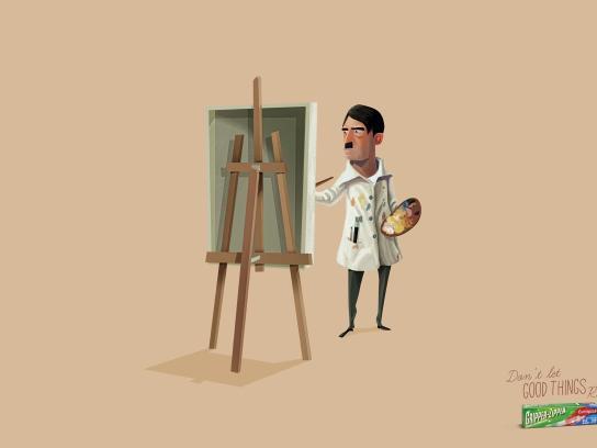 Gripper Zipper Print Ad -  Hitler