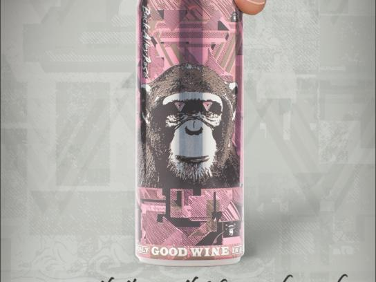 The Infinite Monkey Theorem Print Ad -  Finger