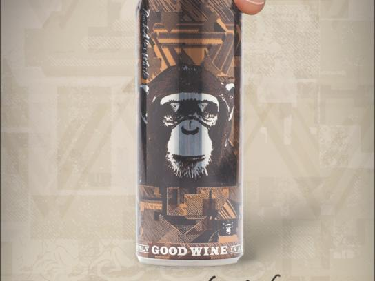 The Infinite Monkey Theorem Print Ad -  Wine snobs