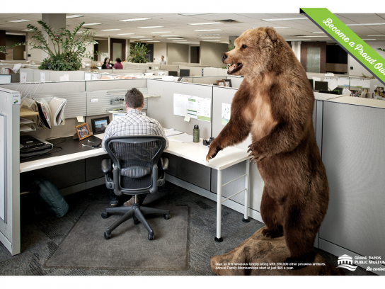 Grand Rapids Public Museum Print Ad -  Be a proud owner, Grizzly
