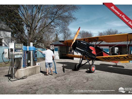 Grand Rapids Public Museum Print Ad -  Be a proud owner, Plane