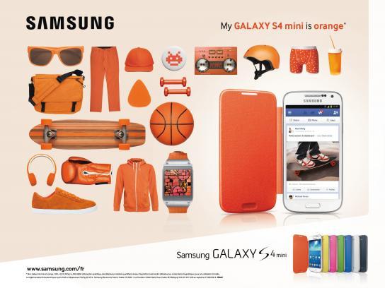 Samsung Print Ad -  Orange
