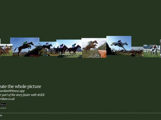 Guardian Print Ad -  Horse Race